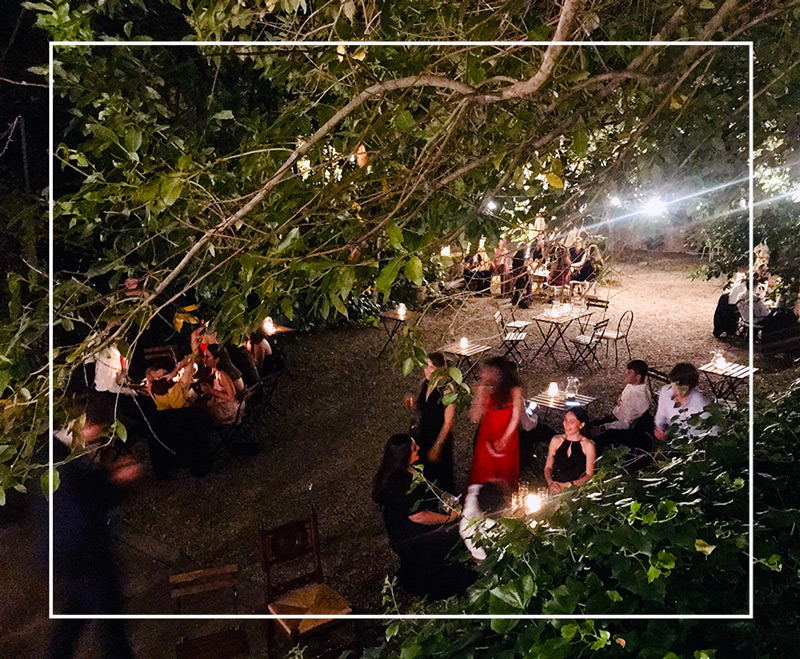 private events Villa Sospisio Rome Trastevere